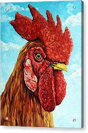 King Of The Roost Acrylic Print by Linda Apple