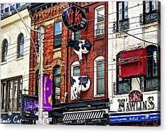 King Street West Acrylic Print by Nicky Jameson