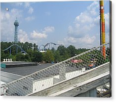 Kings Dominion - Shockwave - 01131 Acrylic Print by DC Photographer