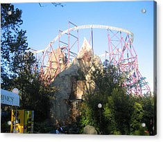 Kings Dominion - Volcano - 01132 Acrylic Print by DC Photographer