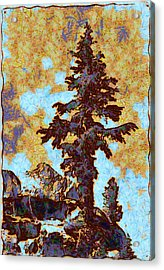 Kings River Canyon Colorized Acrylic Print by Ansel Adams