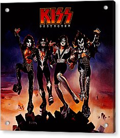 Kiss - Destroyer Acrylic Print by Epic Rights