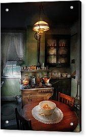 Kitchen - 1908 Kitchen Acrylic Print by Mike Savad