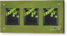 Kitchen Art - Peas - 02t01b Acrylic Print by Aimelle