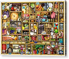 Kitchen Cupboard Acrylic Print by Colin Thompson