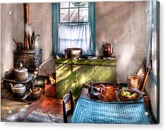 Kitchen - Old Fashioned Kitchen Acrylic Print by Mike Savad