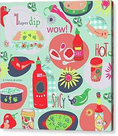 Kitchen Spice Acrylic Print by Pamela J. Wingard