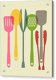 Kitchen Tools Acrylic Print by Ramneek Narang