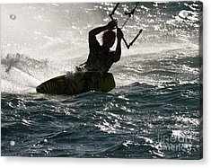 Kite Surfer 02 Acrylic Print by Rick Piper Photography