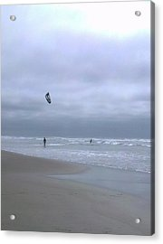 Kite Surfing Acrylic Print by Heather L Wright