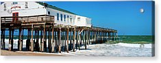 Kitty Hawk Pier On The Beach, Kitty Acrylic Print by Panoramic Images