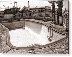 Kiva Motel -  Empty Pool Acrylic Print by Gregory Dyer