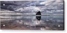Kiwanda Clouds Acrylic Print by Darren  White