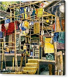 Klong House Acrylic Print by Andre Salvador
