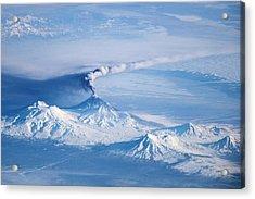 Klyuchevskoy Volcano Astronaut Photograph Acrylic Print by Nasa/jsc