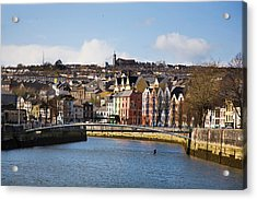 Kneeling Canoe, River Lee, Cork City Acrylic Print by Panoramic Images