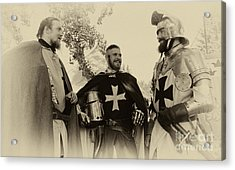 Knights Brothers In Arms 1 Acrylic Print by Bob Christopher