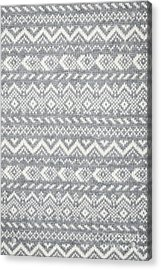 Knit Pattern Abstract Acrylic Print by Elena Elisseeva