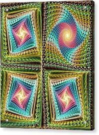 Knitting Acrylic Print by Anastasiya Malakhova