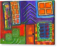 Knock And The Door Shall Be Opened Acrylic Print by Angela L Walker