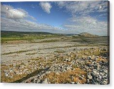 Knockanes Mountain Acrylic Print by John Quinn