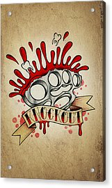 Knockout Acrylic Print by Samuel Whitton