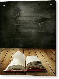 Knowledge Acrylic Print by Les Cunliffe