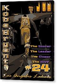 Kobe Bryant Game Over Acrylic Print by Israel Torres
