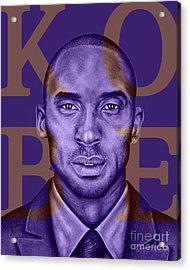 Kobe Bryant Lakers' Purple Acrylic Print by Rabab Ali