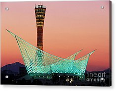Kobe Port Tower Japan Acrylic Print by Kevin Miller