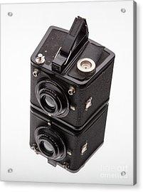 Kodak Brownie Film Camera Mirror Image Acrylic Print by Edward Fielding