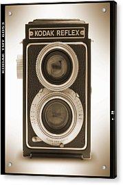 Kodak Reflex Camera Acrylic Print by Mike McGlothlen