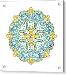 Koi Mandala Acrylic Print by Stephanie Troxell