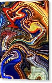 Koi Pond Acrylic Print by Chris Butler