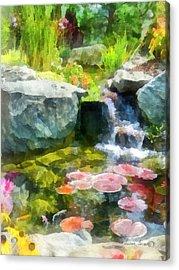 Koi Pond Acrylic Print by Susan Savad