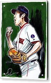 Koji Uehara Boston Red Sox Acrylic Print by Dave Olsen