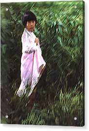 Korean Child Acrylic Print by Dale Stillman