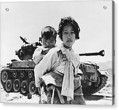Korean Refugee Girl Acrylic Print by Underwood Archives