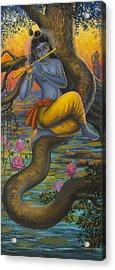 Krishna Vasuri Acrylic Print by Vrindavan Das