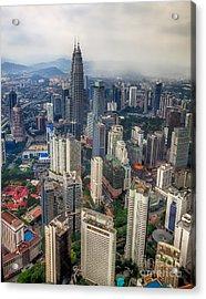 Kuala Lumpur City Acrylic Print by Adrian Evans