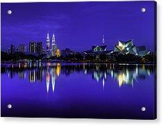 Kuala Lumpur Skyline Acrylic Print by Mario Legaspi