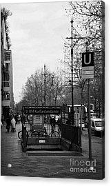 Kufurstendamm U-bahn Station Entrance Berlin Germany Acrylic Print by Joe Fox