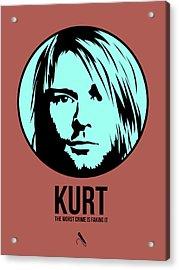 Kurt Poster 2 Acrylic Print by Naxart Studio