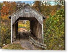 Ky Hillsboro Or Grange City Covered Bridge Acrylic Print by Jack R Perry