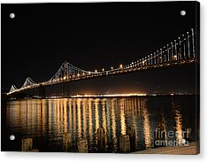 L E D Lights On The Bay Bridge Acrylic Print by David Bearden