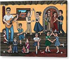 La Bamba Acrylic Print by Victoria De Almeida
