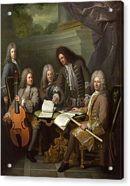 La Barre And Other Musicians Acrylic Print by Andre Bouys
