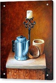La Cafetera Acrylic Print by Edgar Torres