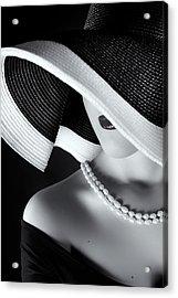 La Femme Au Chapeau Acrylic Print by Ruslan Bolgov (axe)