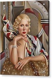 La Femmeen Soiehi  Acrylic Print by Catherine Abel